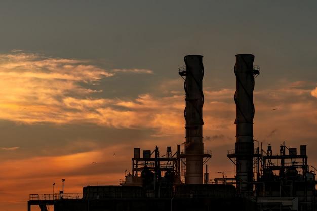 Gas turbine electrical power plant.