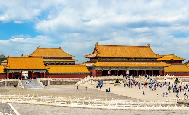 The gate of supreme harmony in the forbidden city of beijing - china