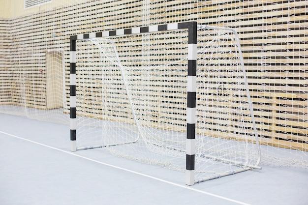 ミニサッカーの門。ハンドボール用ホール