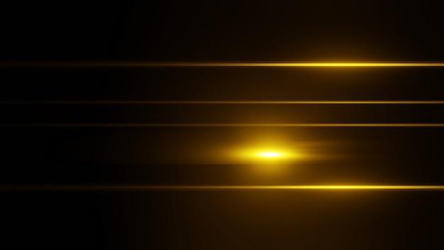 美しいレンズフレアのハイライトで反射を収集します。フラッシュライト効果、3dレンダリング