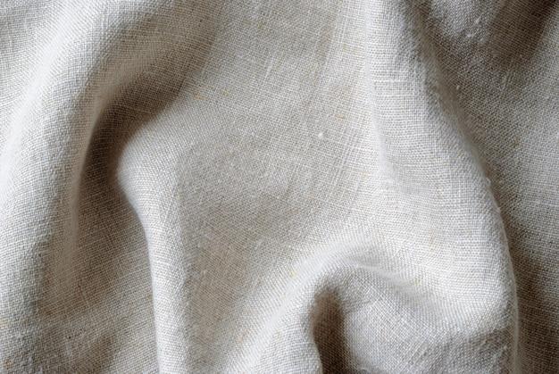Gathered folded soft woven linen fabric