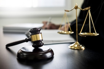 Gavel and balance of justice law