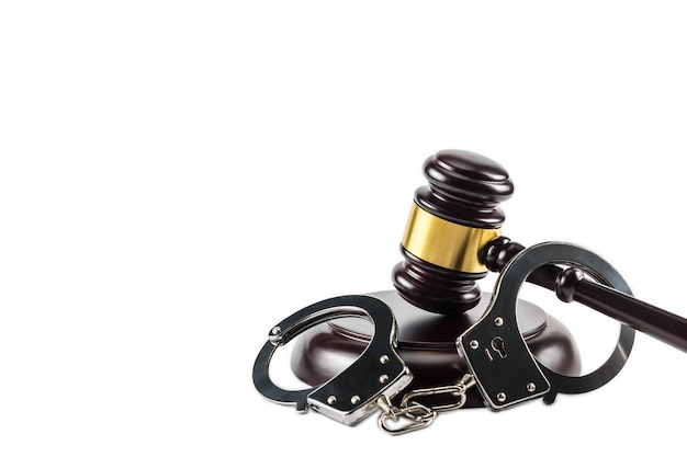 Gavel and handcuff