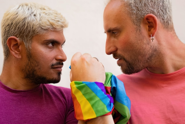 Gay couple fighting for lgbt rights