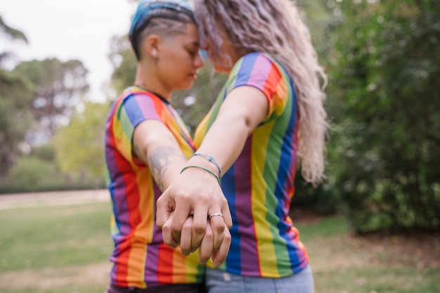 Gay couple in love. young women having a lesbian relationship.
