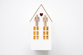 Gay couple on small house