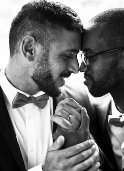 Gay couple together love