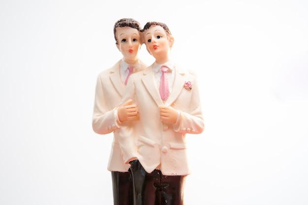 Gay groom wedding cake topper