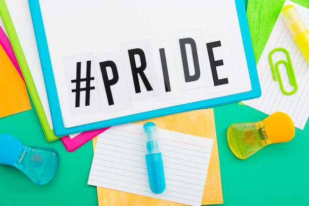 Gay pride concept stationery papers