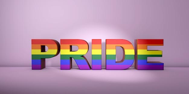 게이 프라이드 단어 개념, 볼륨 글자