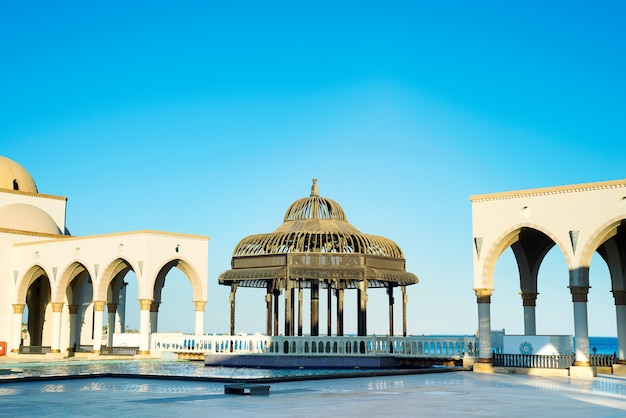 Gazebo on square of colored fountains at sahl hasheesh