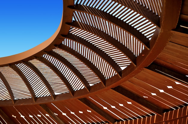 Gazebo wooden ceiling