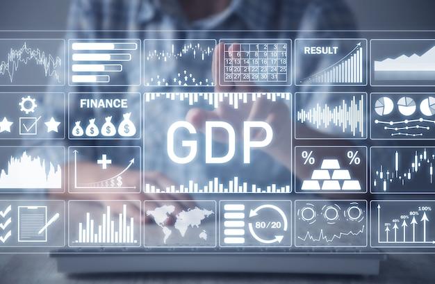 Gdp-国内総生産。ビジネスコンセプト