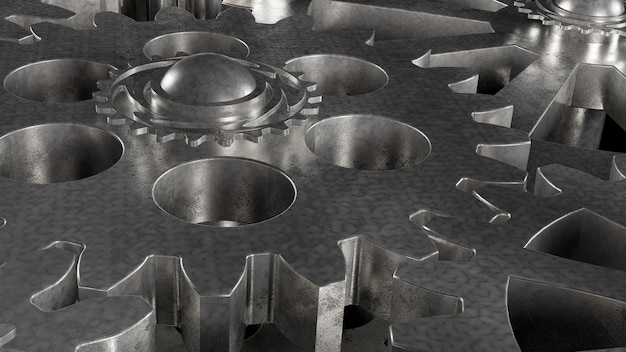 Gear metal mechanism of steel