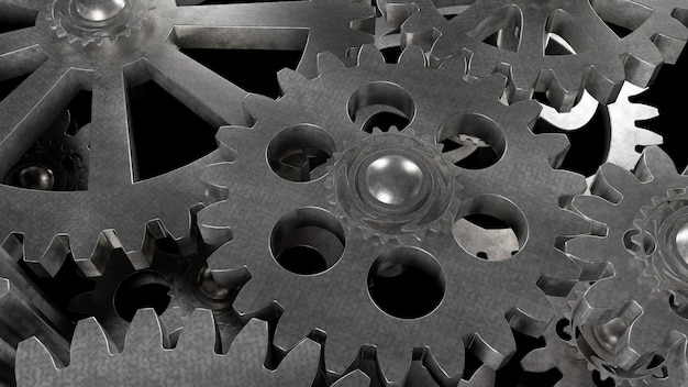 Gear metal mechanism of steel