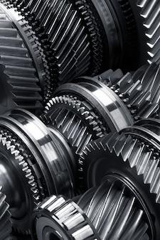 Gear metal wheels background