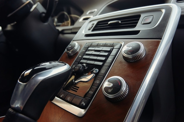 Gear shift lever of an automatic gearbox car.