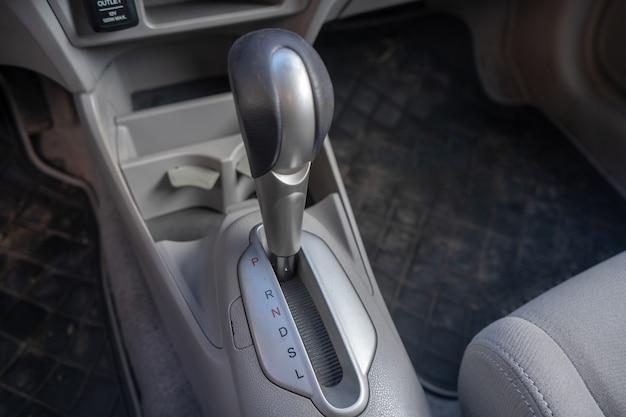 Gear stick with automatic transmission in a used car