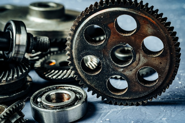 Gears from an old industrial machine
