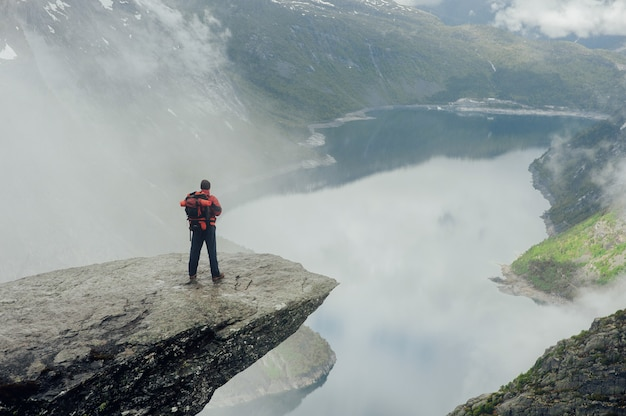 Geiranger fjord, beautiful nature norway panorama. nature photographer tourist