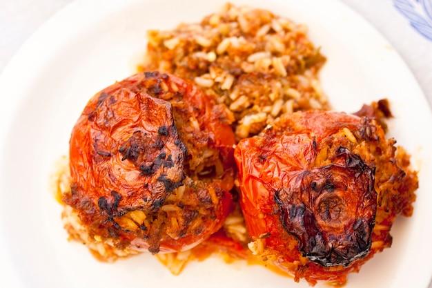 Gemista, greek stuffed tomatoes