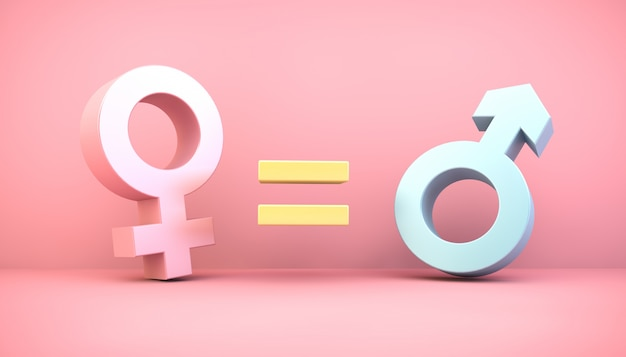 Gender equity concept
