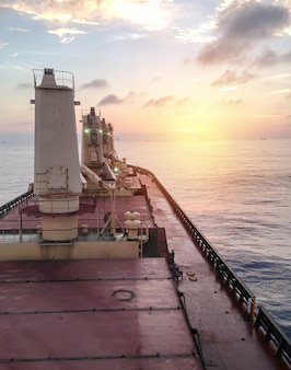 General cargo ship argosy in ocean