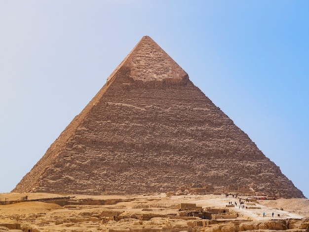 カフラー王のピラミッドの概観