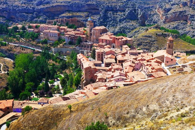 General view of town at aragon in summer