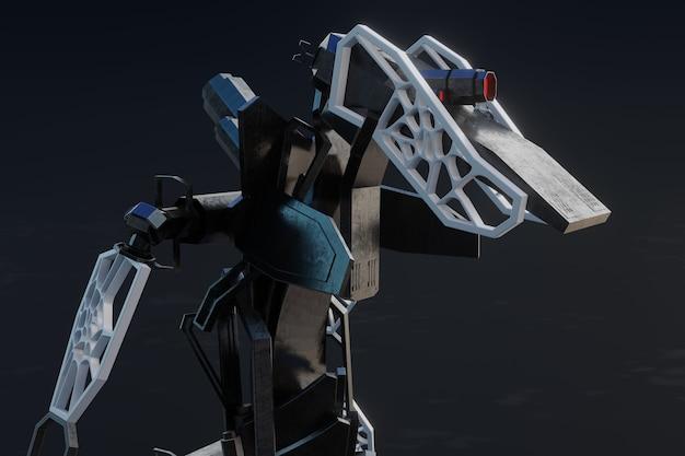 Generative robot - 3d illustration
