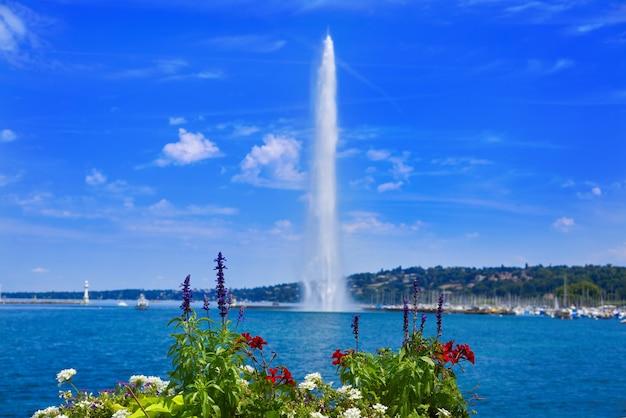 Geneva geneve lake water jet d'eau switzerland