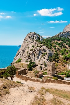 Genoese fortress on a summer day in sudak crimea