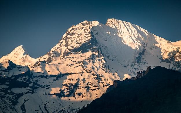 ネパール、ゴルカのgensh mount gensh。