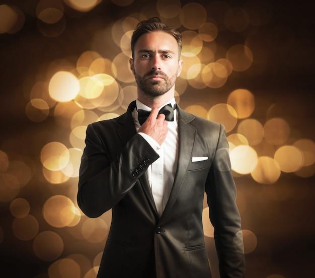 Gentleman in black suit