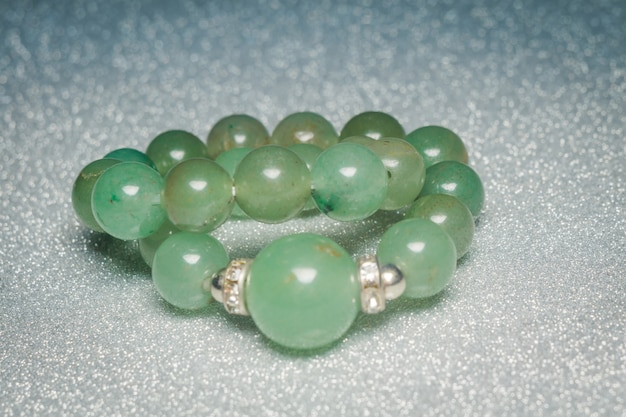Genuine green beaded bracelet