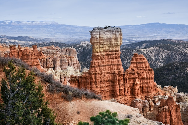 Geological features at bryce canyon landscape, usa