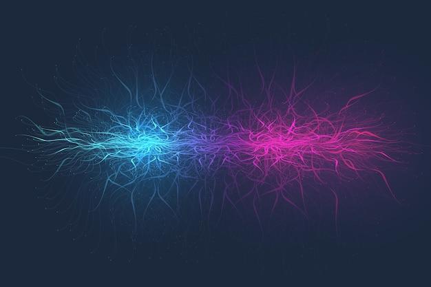 Геометрический абстрактный фон расширение жизни. красочный фон взрыва с подключенной линией и точками, волновой поток. графический фон взрыв, движение всплеск. научная иллюстрация.