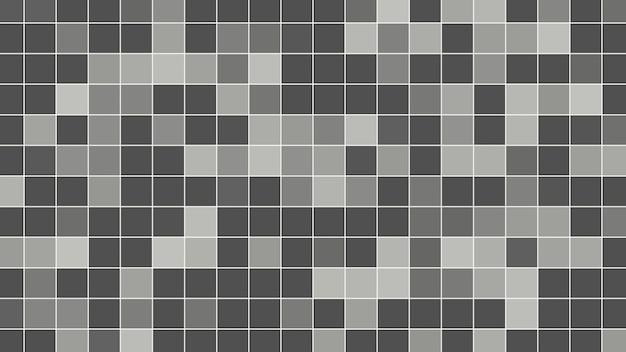 기하학적 추상 검은 픽셀 모자이크, 간단한 배경입니다. 비즈니스 및 기업 템플릿에 대한 우아하고 평면 3d 그림 스타일