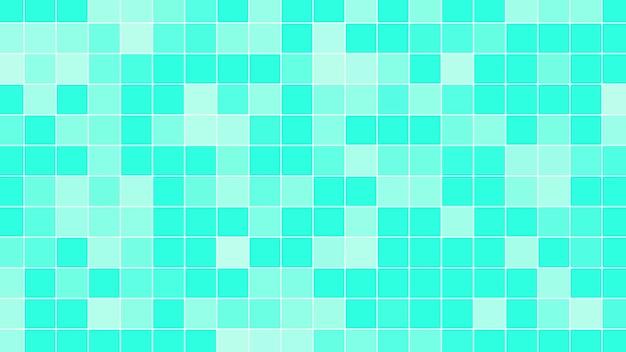 기하학적 추상 녹색 픽셀 모자이크, 간단한 배경