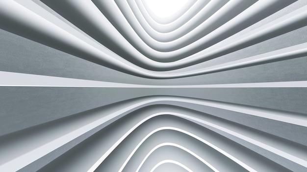 幾何学的抽象ホワイトアーキテクチャ