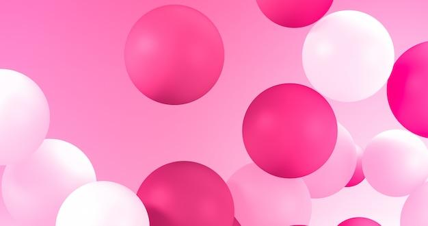 Geometric balloons for holidays, celebration, event background.