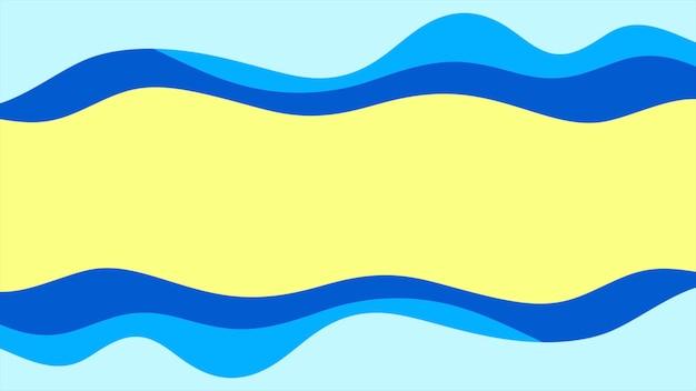 幾何学的な青と黄色の波、抽象的な背景。ビジネスや企業のテンプレート、3dイラストのためのエレガントで豪華なダイナミックスタイル