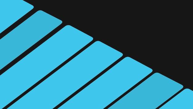 Геометрические синие полосы на современном фоне. элегантный и роскошный стиль 3d иллюстрации для делового и корпоративного шаблона