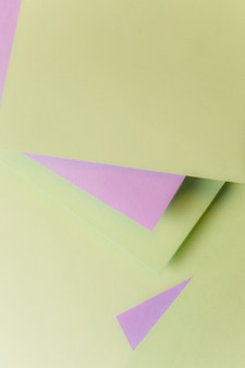 Geometric card paper shape backdrop