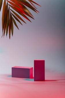 ネオンでの製品のデモンストレーションのための表彰台の幾何学的形態
