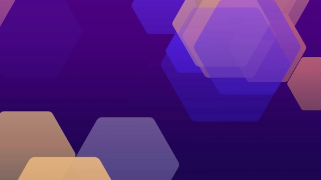 Geometric gradient yellow and purple hexagons, retro abstract background. elegant and luxury 3d illustration style for business and corporate template