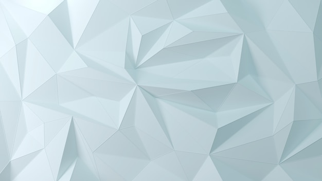 Geometric light blue 3d background of the particle