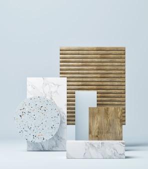 제품 프리젠 테이션을위한 기하학적 모형 장면