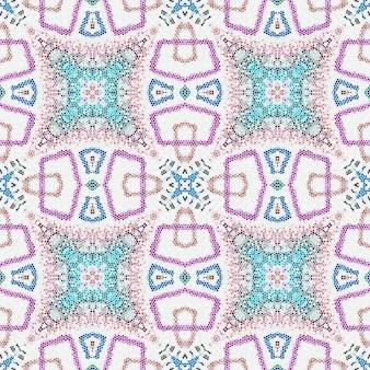 Geometric mosaic seamless pattern. ethnic embroidery.