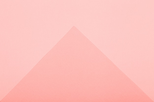 Geometric paper background. living coral color mockup for flat lay